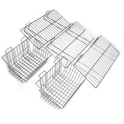 Système d'organisation - Ensemble de paniers et tablettes - 5 morceaux