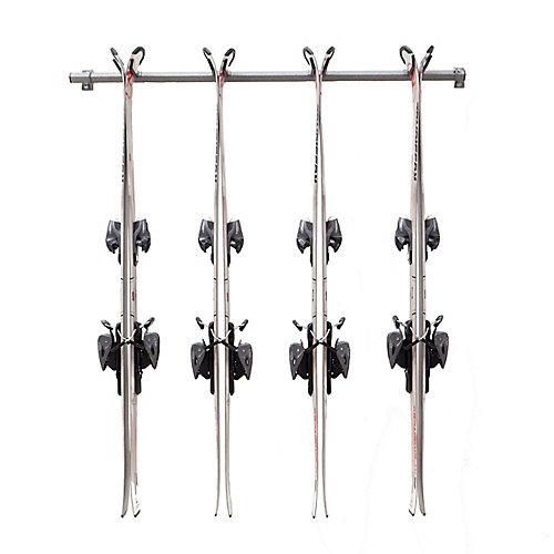 ensemble de rangement pour ski alpin multiple (4 pairs)