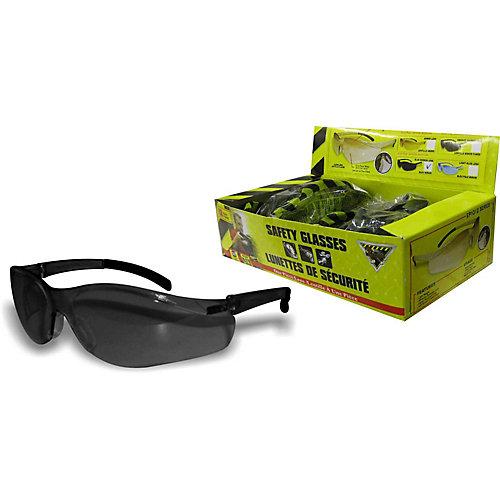 Smoke Lens Safety Glasses Box/12