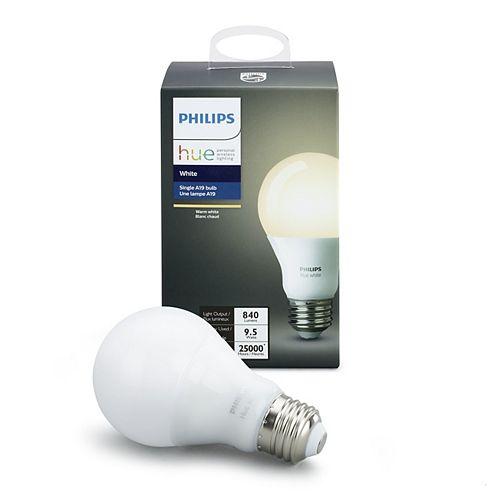 Ampoule à DEL Hue A19 certifiée ENERGY STAR, blanc