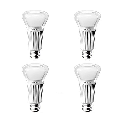 Philips 40/60/100W Equivalent Soft White (2700K) 3 Way A-Line LED Light Bulb (4-Pack)