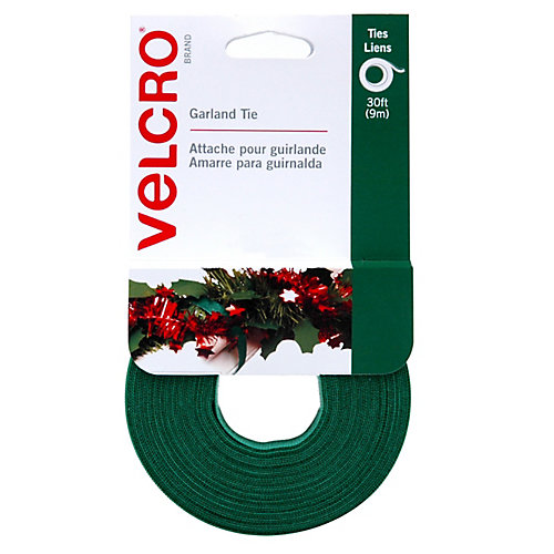 Green Garland Tie 30 ft X 1/2inch Gravity ft 20 ct.