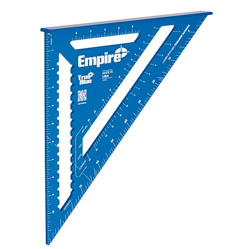 Empire 12-Inch Laser Etched Aluminum Rafter Square