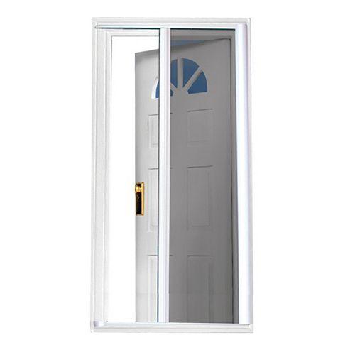 81.5-inch  White Retractable Screen Door (Standard Doors 79-inches to 80.5-inches)