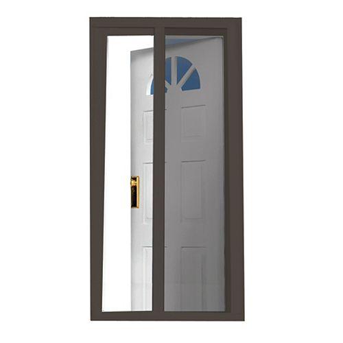 81.5-inch  Brown Retractable Screen Door (Standard Doors 79-inches to 80.5-inches)