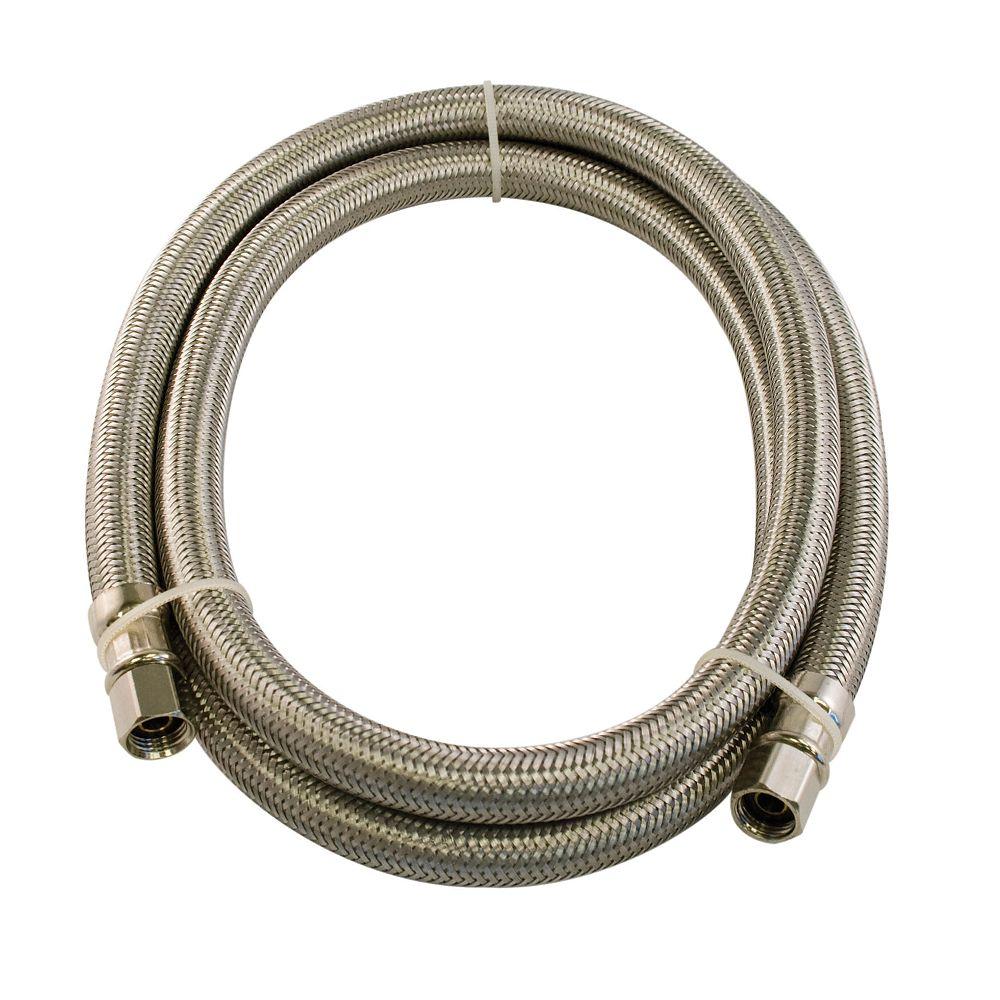 Aqua-Dynamic Flex Connector Ss 1/4i Comp X 1/4i Comp 120i Icemaker Lead Free
