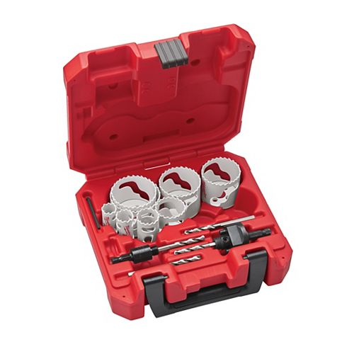 Milwaukee Tool General-Purpose Hole Dozer Hole Saw Kit (15-Piece)