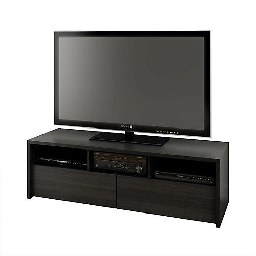 Meuble téléviseur Sereni-T, 59,875po x 18,625po x 19,875po, noir
