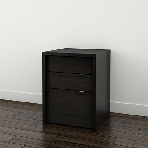 Sereni-T 19-inch x 24.875-inch x 19.875-inch 3-Drawer Manufactured Wood Filing Cabinet in Black