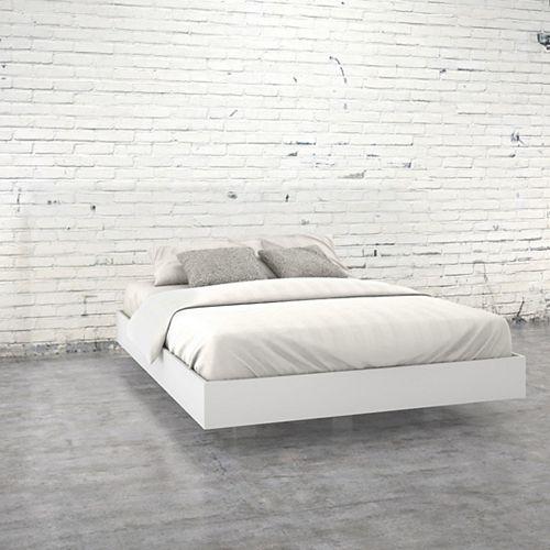 346003 Queen Size Platform Bed, White