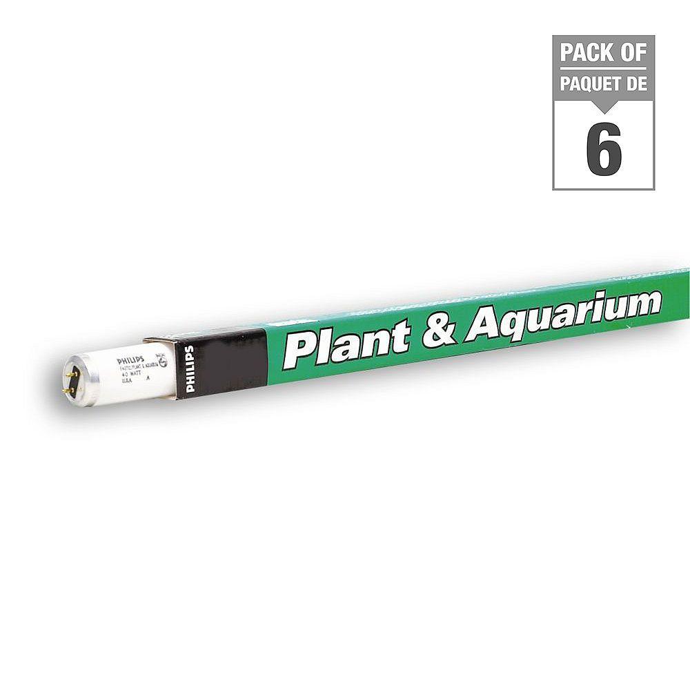 Philips 40W  48 inch T12 Fluorescent Plant & Aquarium Light (6-pack)