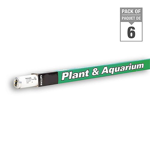 40W  48 inch T12 Fluorescent Plant & Aquarium Light (6-pack)