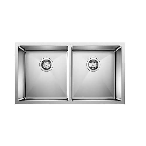 Quatrus 32-inch Double-Basin Kitchen Sink in Stainless Steel