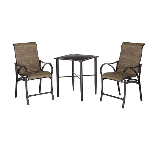 Valley Stream 3-Piece Patio High Bistro Set
