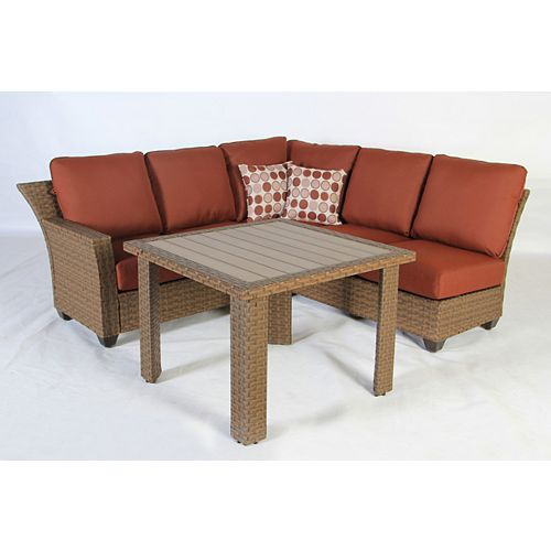 Tobago 3-Piece Fully Woven Patio Sectional