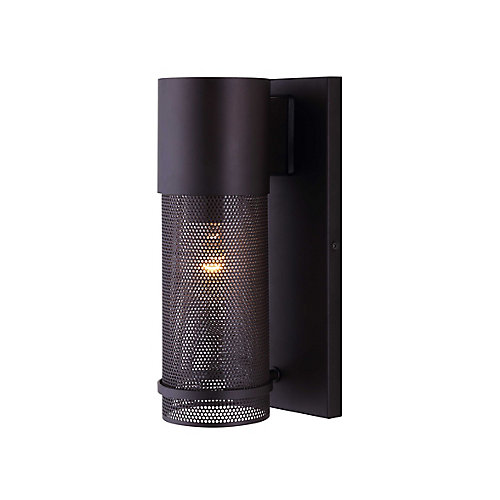 Alfie 1-Light Outdoor Orb Wall Light with Mesh Cage & Clear Glass