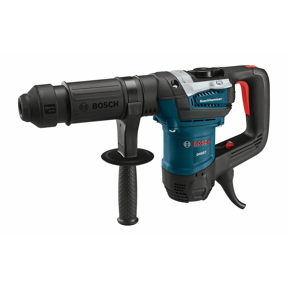 Bosch 120V Corded 12lb Keyless SDS-Max Demolition Hammer with Auxiliary Handle and Carrying Case