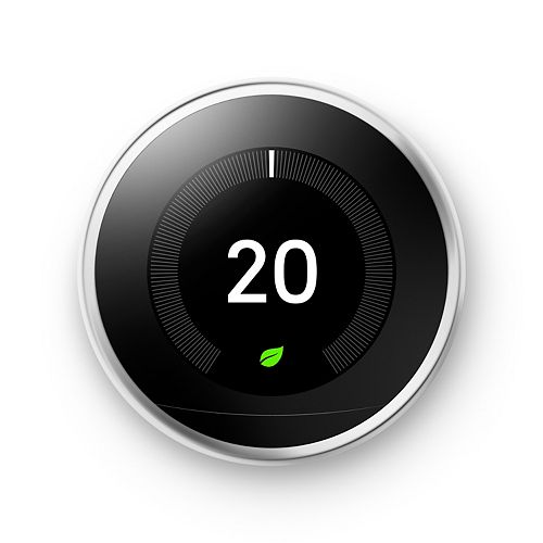3rd Generation Nest Learning Thermostat in Stainless Steel