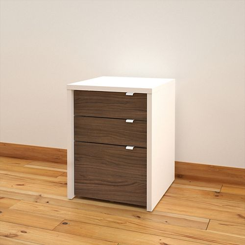 Liber-T 19-inch x 24.875-inch x 19.875-inch 3-Drawer Manufactured Wood Filing Cabinet in White