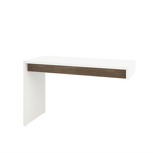 Liber-T 47.75-inch x 29.75-inch x 19.75-inch Standard Writing Desk in White