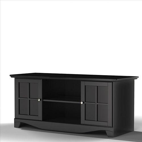 Nexera Meuble téléviseur Pinnacle, 56po x 24,625po x 21,625po, noir