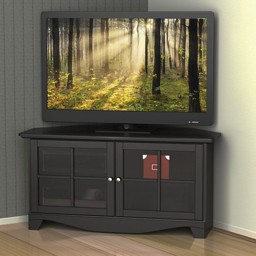 Pinnacle 49-inch Corner Entertainment Unit in Black