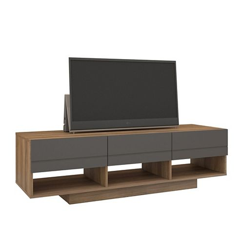 Nexera Radar 59.75-inch x 17.25-inch x 18.75-inch TV Stand in Walnut