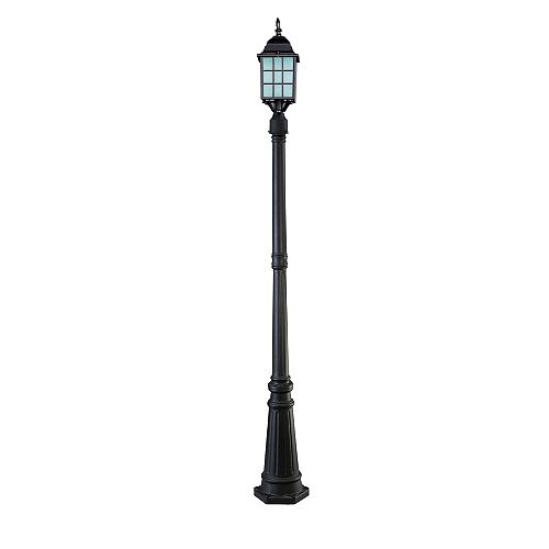 Colton 1 Light Outdoor Orb Post Light With Frosted Glass