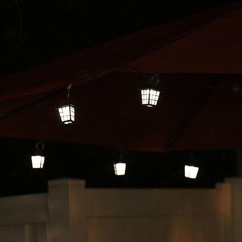 San Rafael Lantern String Light with Stake and Umbrella Clips (20-Piece)