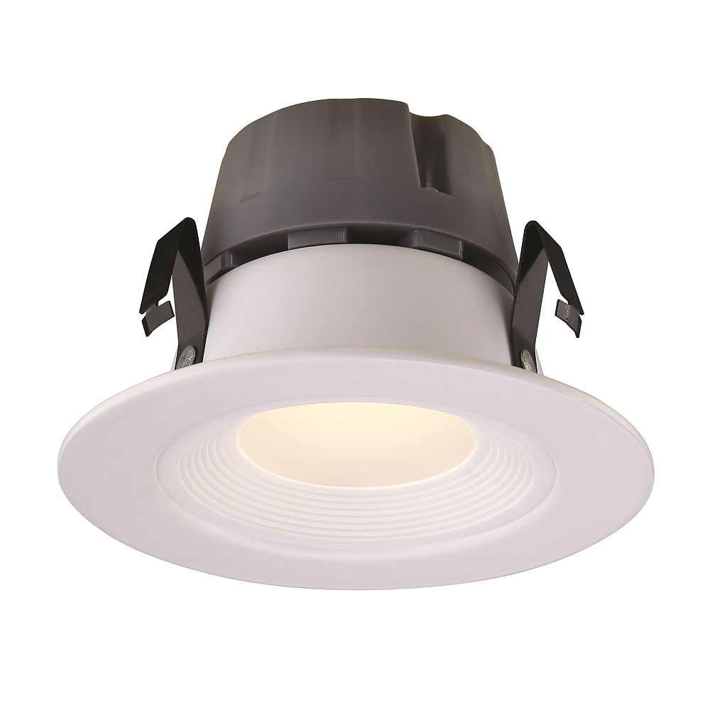 Commercial Electric Recessed LED White Retrofit Baffle Trim GU10 Adaptor - 3 Inch