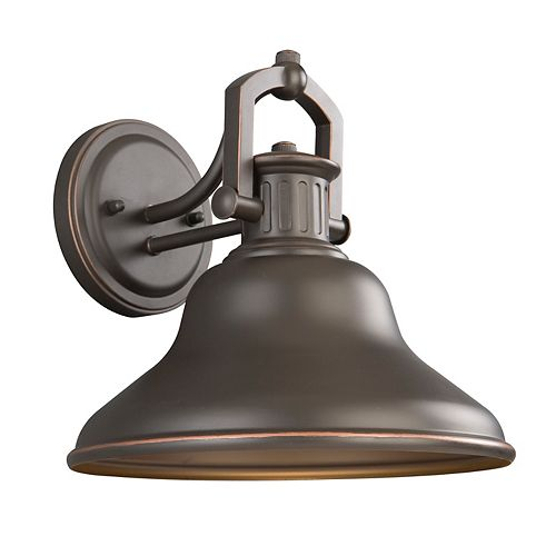 Lake Worth 1-Light Oil-Rubbed Bronze LED Outdoor Wall Lantern