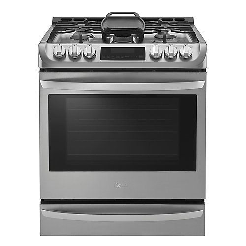 6.2 cu. ft. Gas Slide-In Range Single Oven with ProBake Convection in Stainless Steel