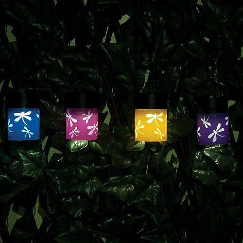 Fiesta Hanging Solar Lanterns (Set of 4)