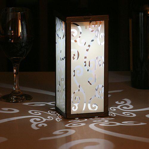 Frosted Scroll Solar Lantern