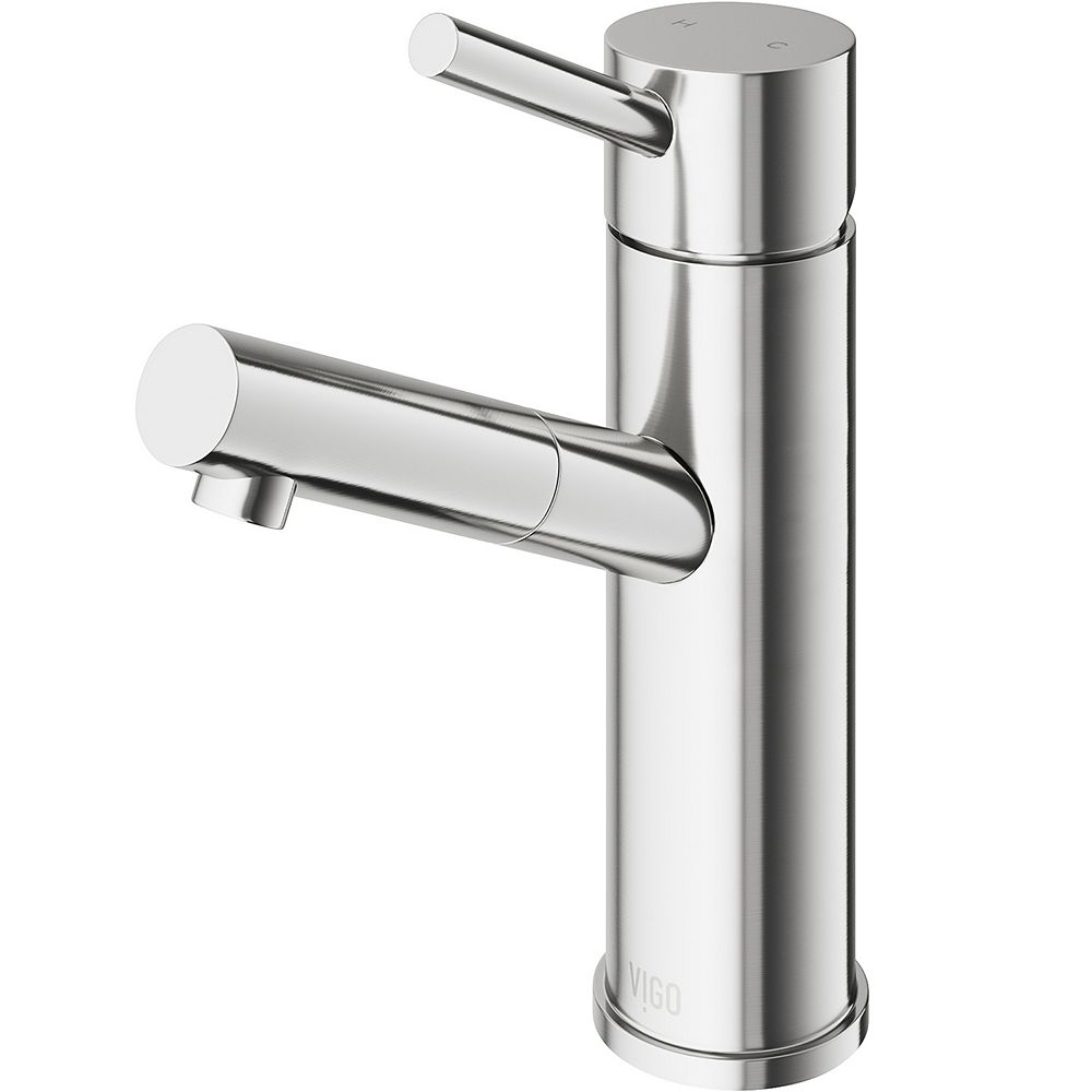 VIGO Noma Single Hole Single-Handle Bathroom Faucet in Brushed Nickel