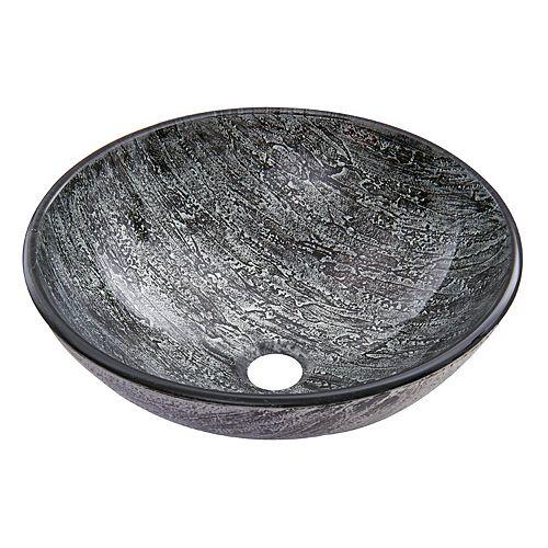 Vasque de salle de bains en verre Titanium de