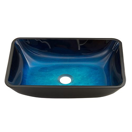 Turquoise Water Handmade Glass Vessel Bathroom Sink