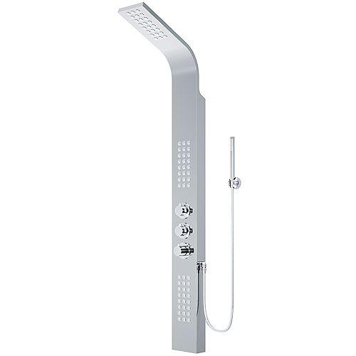 Colonne de douche avec jets de massage chromé Sutherland de