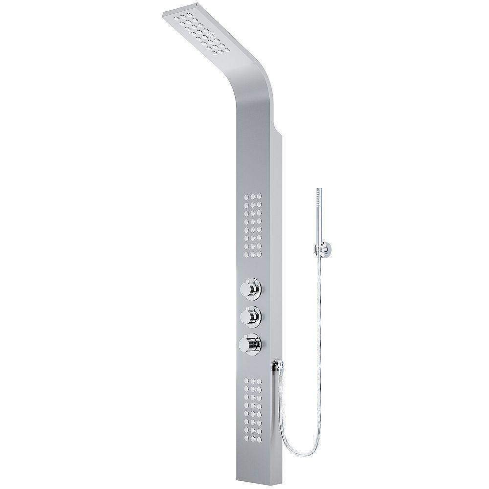 VIGO Colonne de douche avec jets de massage en acier inoxydable Sutherland de
