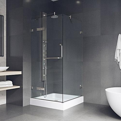 Cabine de douche sans cadre Monteray de  avec receveur