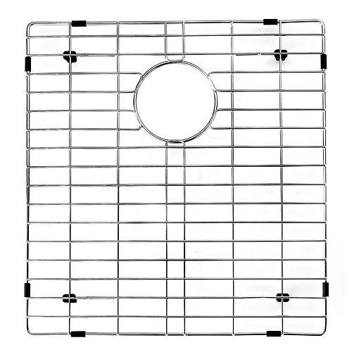 Grille de fond d'évier de 18 po x 16 po Grille de fond d'évier de cuisine en acier inoxydable