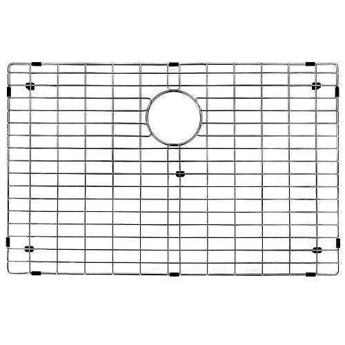 Grille de fond d'évier de 28 po x 17 po Grille de fond d'évier de cuisine en acier inoxydable