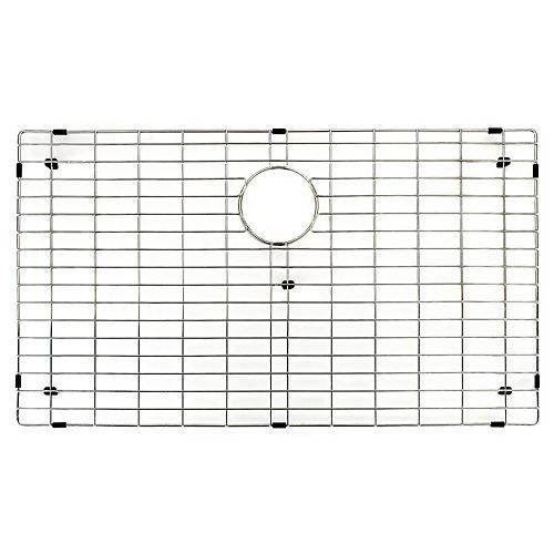 Grille de fond d'évier de cuisine 34 po x 18 po Grille de fond d'évier de cuisine en acier inoxydable