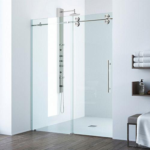 Porte de douche coulissante sans cadre et réglable Elan de
