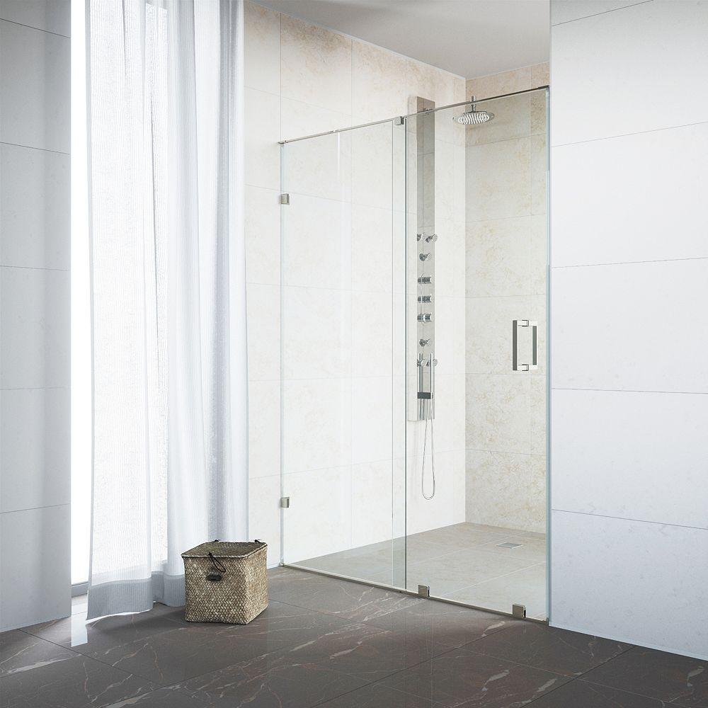 VIGO Porte de douche coulissante sans cadre et réglable Ryland de