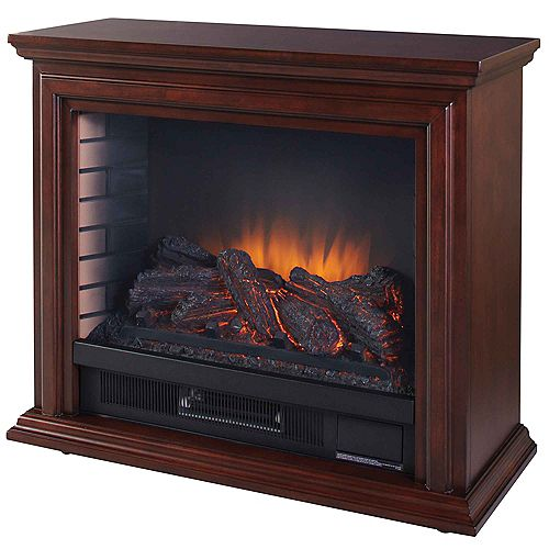 Sheridan 31-inch Mobile Electric Fireplace in Cherry
