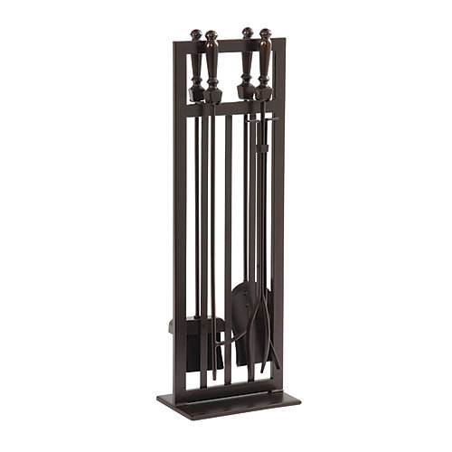 Mission Style 5-Piece Fireplace Tool Set
