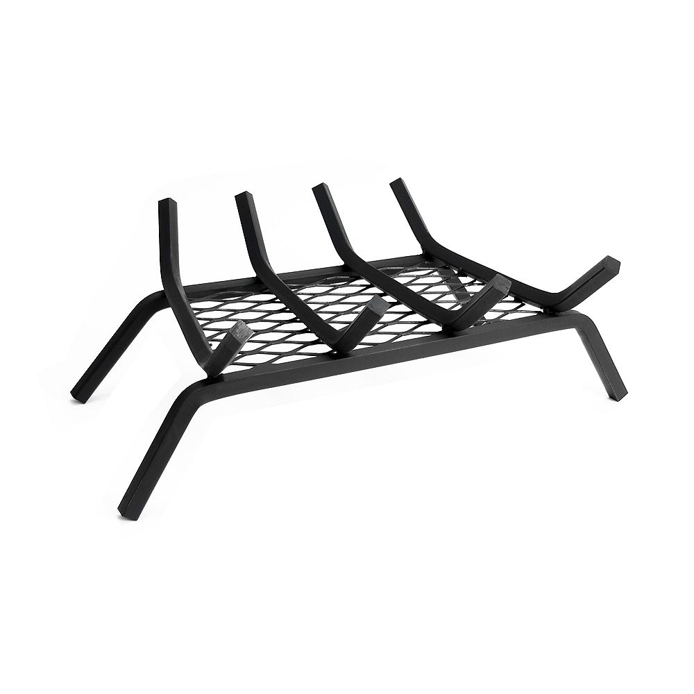 Pleasant Hearth 18 Inch Steel Grate with Ember Retainer