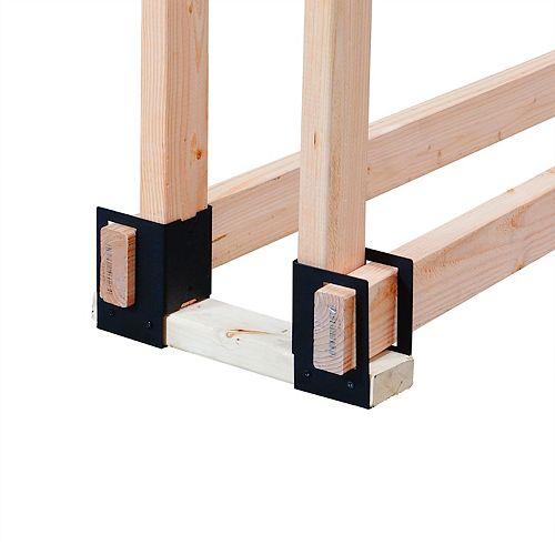 4-Piece Log Rack Brackets