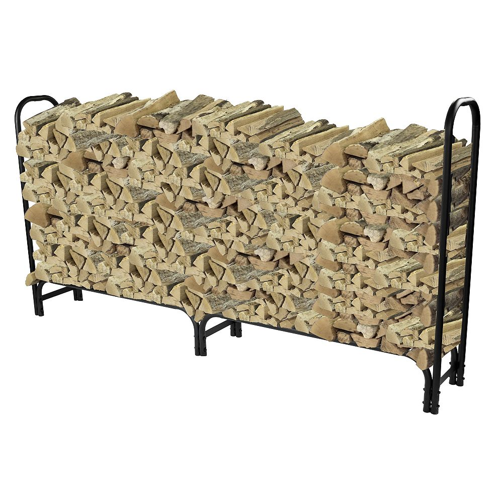 Pleasant Hearth 8 ft. Heavy Duty Firewood Rack
